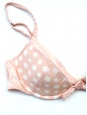 PRINCESSE TAM TAM Light pink satin with white dots Paulette bra Size 36A/34B