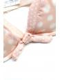 PRINCESSE TAM TAM Soutien gorge en satin rose à pois blanc Taille 95A/90B