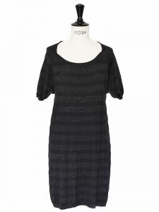 Robe en maille de soie et laine noire Taille 38