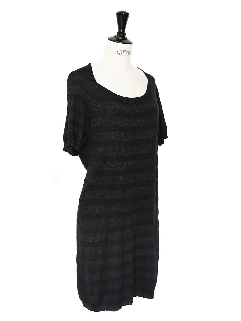 Louise paris comptoir des cotonniers robe en maille de soie et laine noire taille 38 - Robe en soie comptoir des cotonniers ...