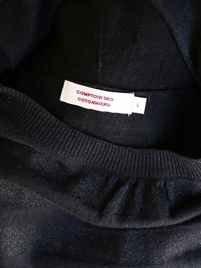 Louise paris comptoir des cotonniers robe en maille de soie et laine noire taille 38 - Comptoir des cotonniers paris 16 ...