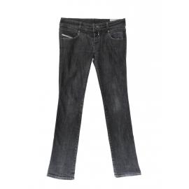 DIESEL Rokket grey denim jeans with leather pocket Size 36
