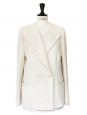 White scalloped lace blazer jacket Retail price 1670€ Size 38