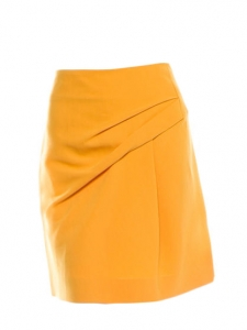 Gold yellow wool and silk skirt Retail price 650€ Size 36