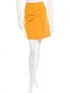 Jupe en laine et soie jaune doré Px boutique 650€ Taille 36