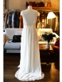 Robe de mariée RUIZ en dentelle fine et soie blanche Px boutique 2850€ Taille 38