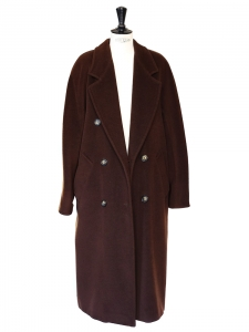 Maroon wool maxi coat Retail price 800€ Size 38