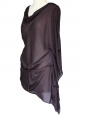 Dark brown/mauve veil top with belt Retail price 200€ Size S