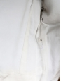 CELINE Veste en peau retournée écru et cuir noir Px boutique 3500€ Taille 38
