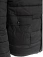 """Veste doudoune """"Old School"""" à capuche en coton et cuir noir Px boutique 450€ Taille S"""