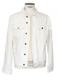 Men white denim jacket Retail price 330€ NEW Size L
