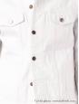 Veste blouson en jean Homme blanc Px boutique 330€ Taille L