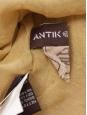 Khaki green silk jersey sleeveless tie front dress Retail price 500€ Size M