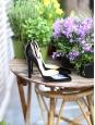 """Escarpins """"Calais"""" bride cheville en cuir glacé noir Px boutique 650€ Taille 38"""