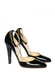 """Calais"" black d'Orsay pumps with ankle strap Retail price 650€ Size 38"
