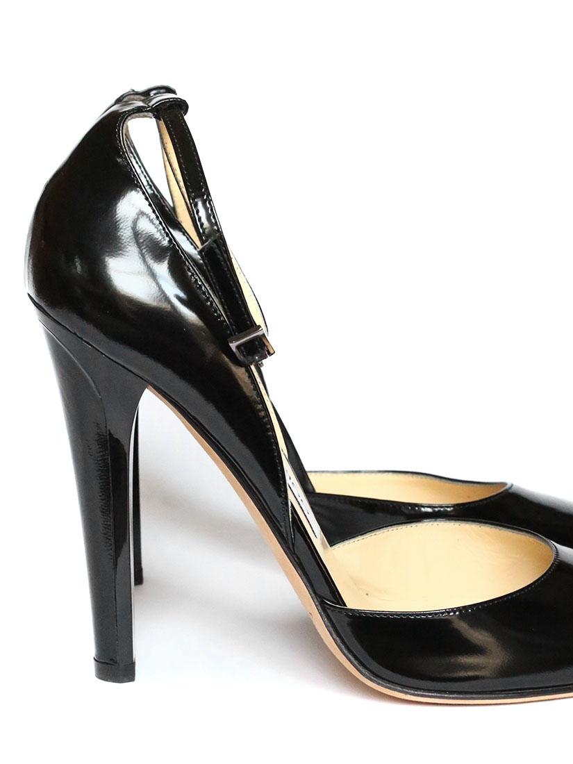 Escarpins cuir bride cheville Noir 6kNGLb