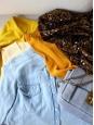 Jupe mi-longue en coton jaune très vif Taille 34
