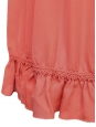Light coral silk crepe smock dress SS12 Retail price €1800 Size 38