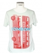 Water green cotton t-shirt with London bus print NEW Retail price €150 Size M