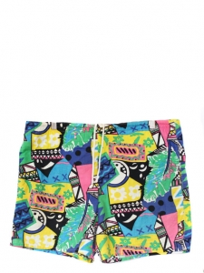 80's style Men's neon color printed shorts Size M