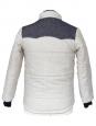 Blouson doudoune en laine bleu jean et écru Px boutique 250€ Taille XS