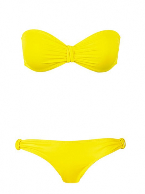 Bright yellow bikini swimsuit Retail price 180€ Size 40 or L