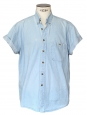 Short sleeves light blue denim shirt Size XL