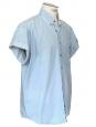 Short sleeves light blue denim shirt Size XL