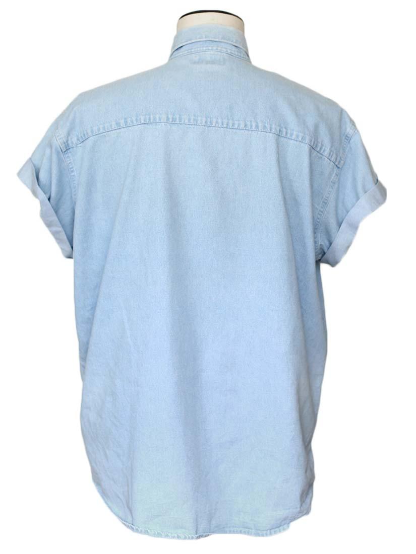 Louise Paris Vintage Short Sleeves Light Blue Denim