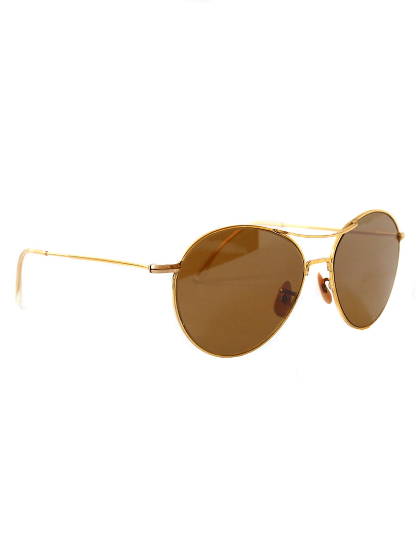 Gold Frame Aviator Glasses : Louise Paris - LESCA Thin gold frame aviator sunglasses ...