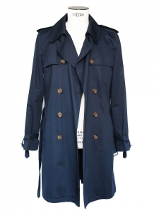 Men's navy blue Mac Trench Coat Retail price over €400 Size M