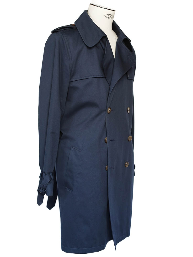Louise Paris Apc Men S Navy Blue Mac Trench Coat Retail