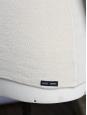 Pull marin uni écru col rond boutonné à l'épaule Px boutique 99€ Taille L