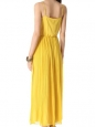 Bright yellow and white silk chiffon maxi dress with deep V neckline Retail price $500 Size M