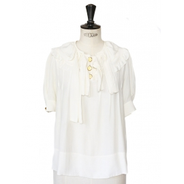 Ecru silk blouse Retail price around €900 Size 36