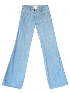 "Light washed blue wide leg ""flared jeans Retail price 360€ Size 34"