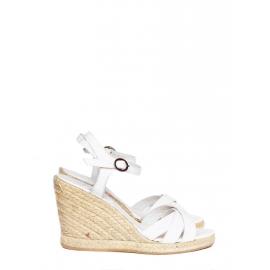 Sandales espadrilles compensées blanches NEUVES Prix boutique 280€ Taille 36