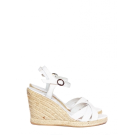 White espadrilles wedge sandals NEW Retail price €280 Size 36