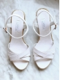 White espadrilles wedge sandals NEW Size 36