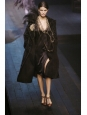 Black silk satin dress with crystal necklaces Retail price 3000€ Size 38/40