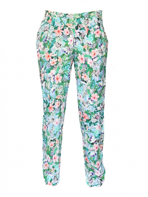 Flower printed trousers Size XS