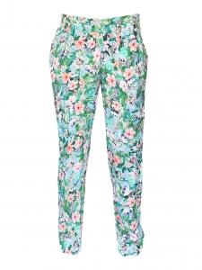 Pantalon léger imprimé fleuri Taille XS