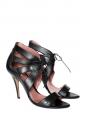 Sandales en cuir noir à talons hauts Taille 40