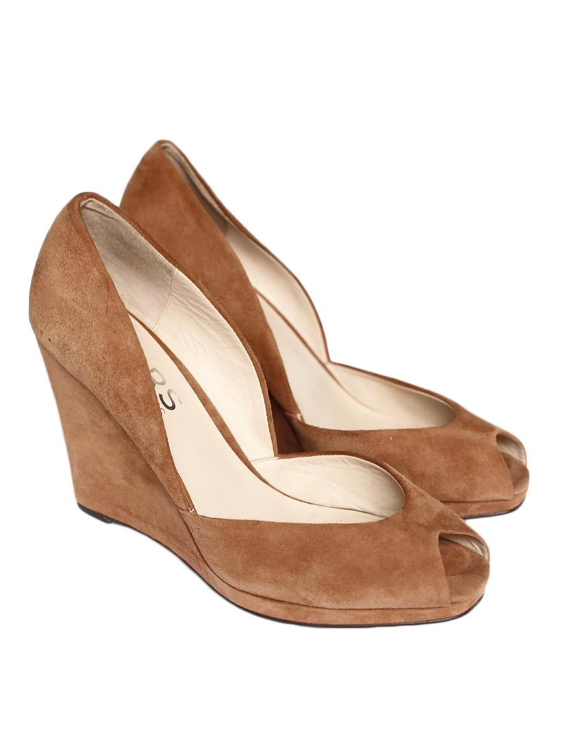 Wedge Light Brown Shoes