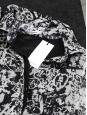 Robe bi-matière haut en crêpe de soie imprimé noir et blanc Px boutique environ 400€ Taille 36