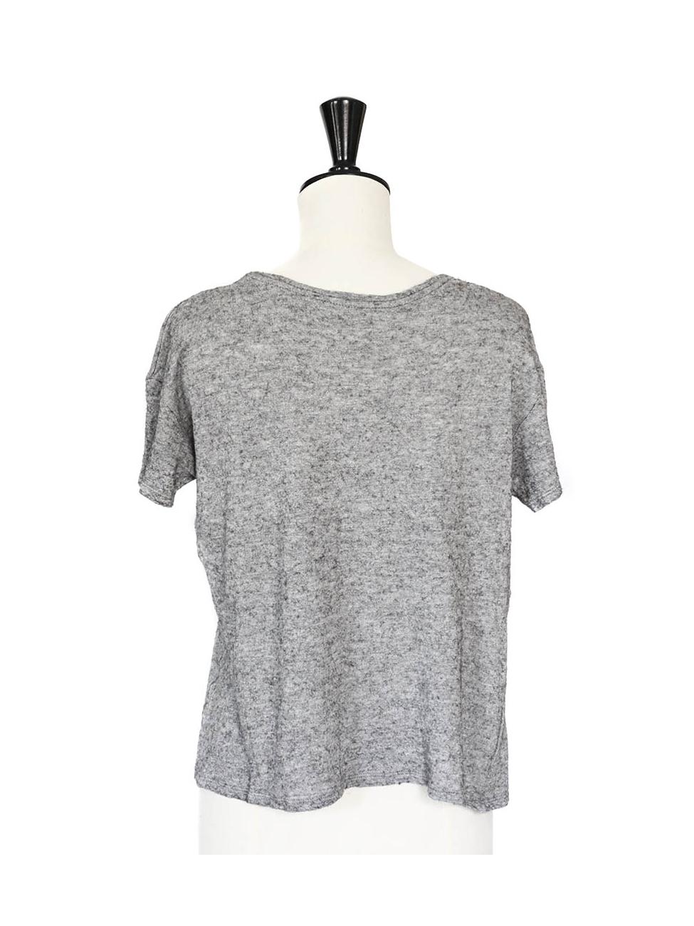 tee shirt gris femme zara