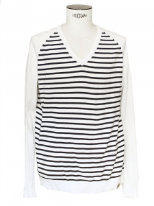 Blue / white sailor sweater V-neck Retail price around €90 Size XL