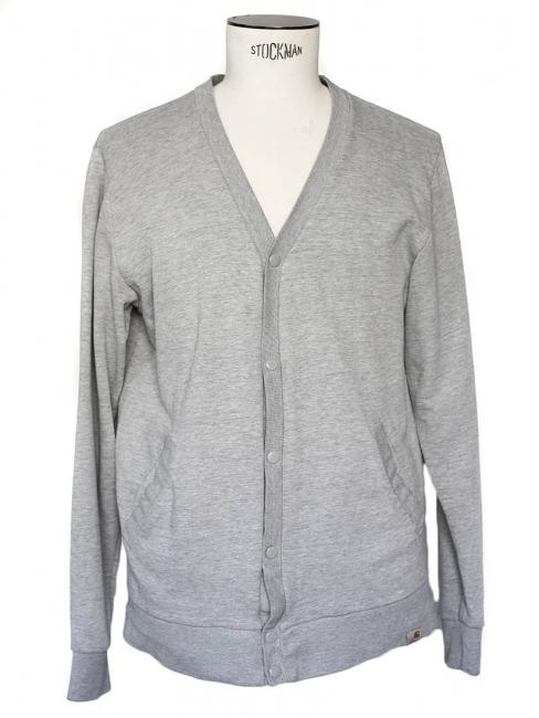 Gilet col V en coton gris Taille M