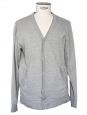 Grey cotton cardigan Size M
