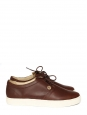 HOLLY LEATHER sneakers in mocha brown leather NEW Retail price €100 Size 41 or US 8